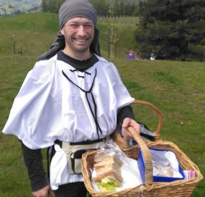 medieval baker with scones
